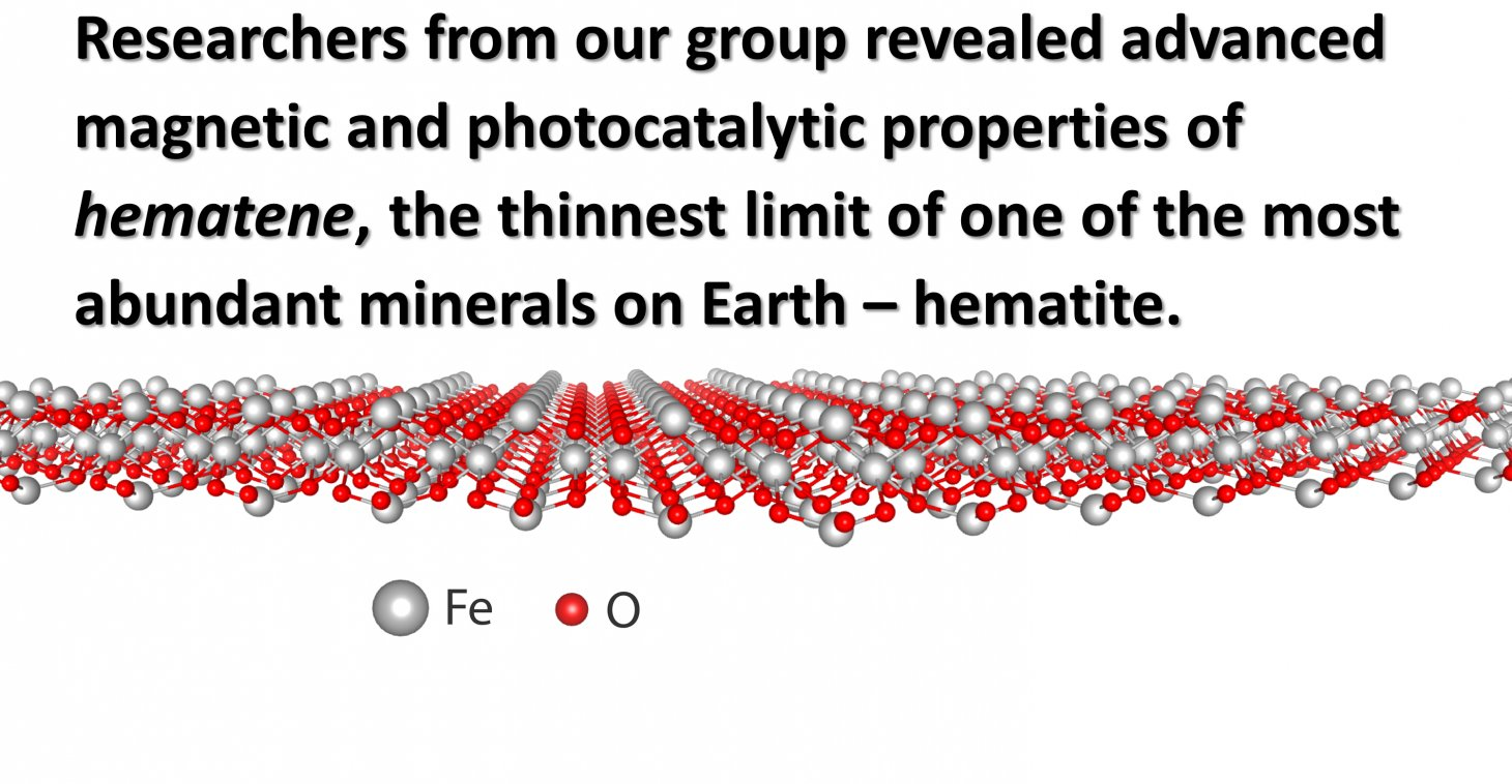 2D magnetic material as a photocatalyst for water splitting