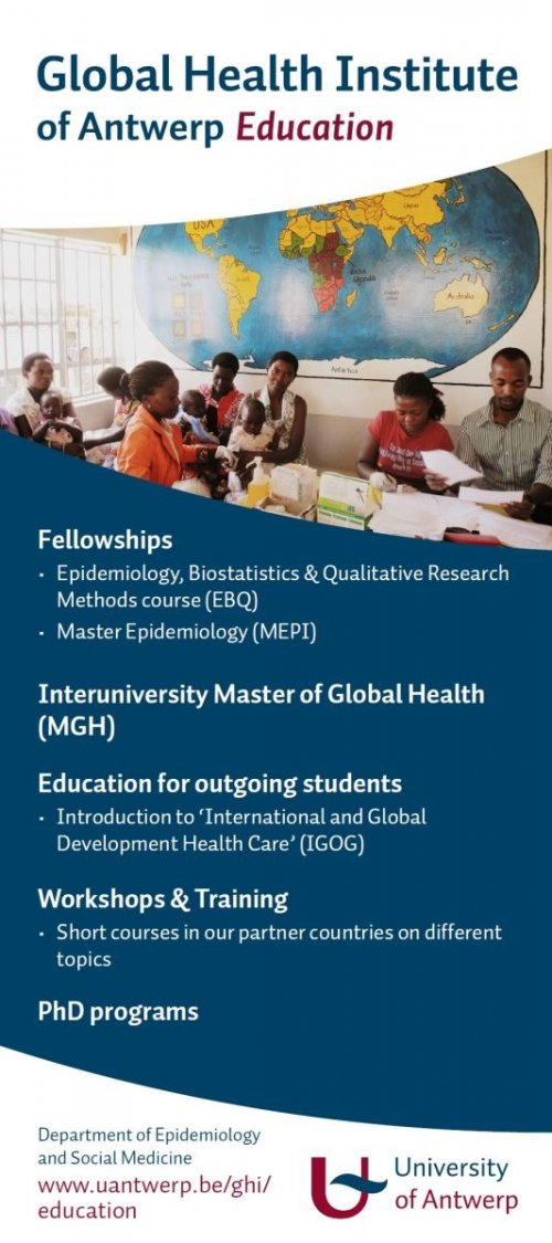 Education at the Global Health Institute of the University of Antwerp